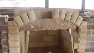 3 часть.Печной комплекс (Старокорсунский) Как делать арку из шамотного кирпича?
