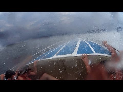 MASSIVE WAVES ALMOST FLIP OUR SMALL BOAT!