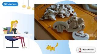 Салат с грибами кальмарами и сыром Праздничные рецепты