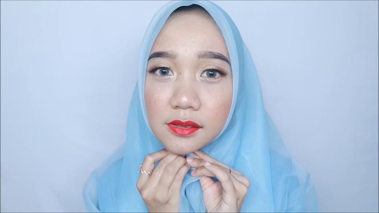 4 Tutorial Hijab Organza Untuk Muka Bulat  YouTube