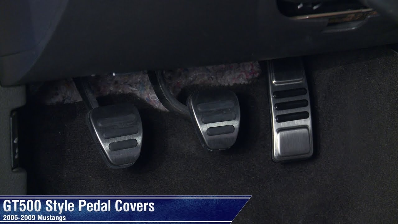 Mustang Gt500 Style Pedal Covers Manual And Automatic 05