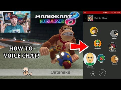 How To Voice Chat In Mario Kart 8 Deluxe!