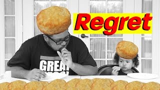 I REGRET trying the Popeyes 10 Biscuit Challenge