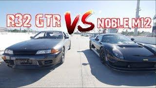 """""""Dusty"""" R32 GTR is an ANIMAL! Drag Race R35 GTR and Noble M12 thumbnail"""
