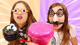 TURN THIS SLIME INTO HALLOWEEN SLIME CHALLENGE! | JKrew