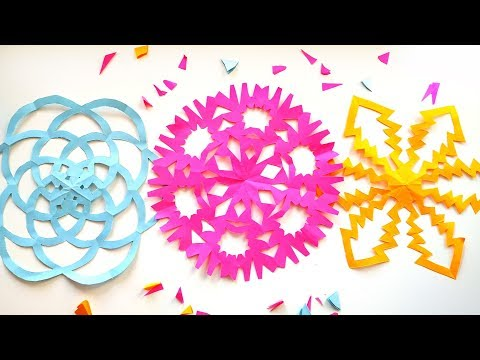 how-to-make-easy-snowflakes---paper-cutting-snowflakes-ideas-\-diy-christmas-crafts-2019