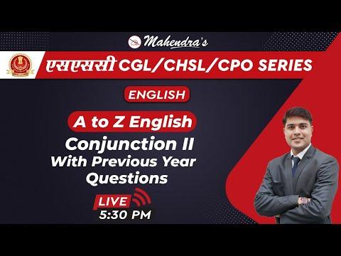 SSC CGL/CHSL/CPO SERIES   English   Conjunction   PYQ   By Nitin Mahendras   5:30 Pm
