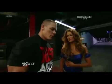 Wwe Kaitlyn And John Cena Kiss John Cena Kisses Eve T...