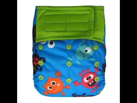 Review: ecoAble AIO Cloth Diapers with Hook & Loop Closure