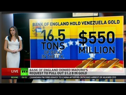 Bank of England Rejected Maduro's Request to Withdraw Venezuelan Gold