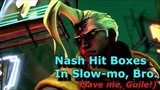 slow motion hit boxes street fighter 5 nash