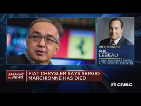 Fiat Chrysler says Sergio Marchionne has died