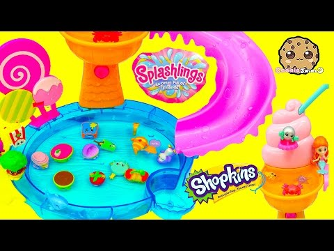 Splashlings Mermaid 12 Pack & Season 4 Shopkins 12 With  Surprise Blind Bags Cookieswirlc