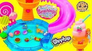 Splashlings Mermaid 12 Pack & Season 4 Shopkins 12 with  Surprise Blind Bags Cookieswirlc