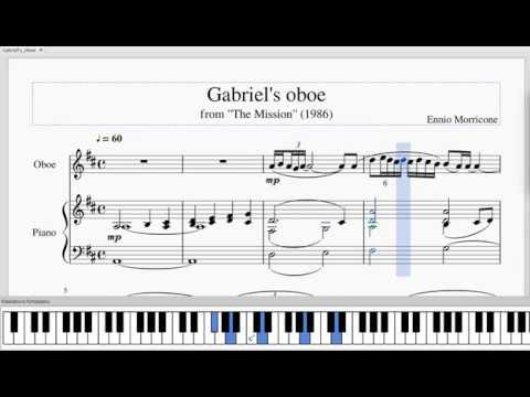 Ennio Morricone Gabriel S Oboe The Mission Piano Oboe Sheet Music Notes Youtube
