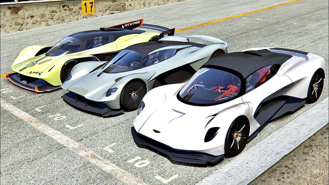 Aston Martin Valhalla Vs Aston Martin Valkyrie Vs Aston Martin Valkyrie Amr Pro Monza Youtube