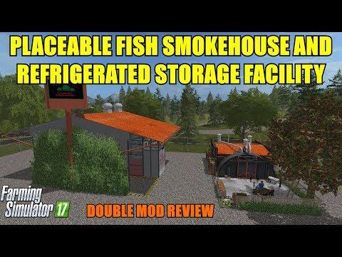 "FS17 - Fish Smokehouse v1.0 and Refrigerated Storage Unit v1.0 ""Mod Review"""