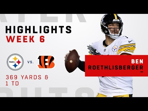 Ben Roethlisberger's 369-Yd Day vs. Bengals