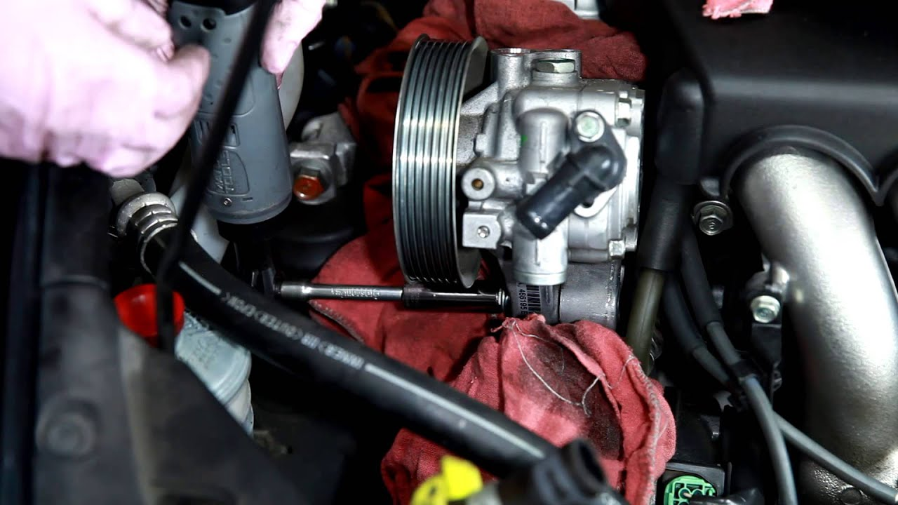2003 2007 Honda Accord Power Steering Pump Remove And Install   YouTube