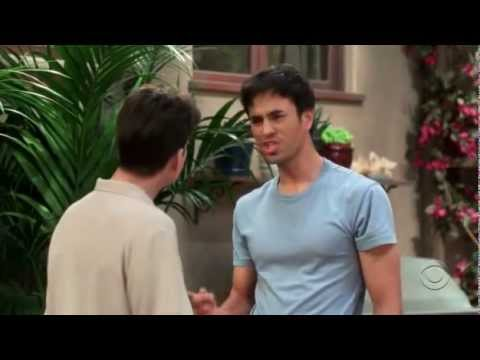 two and a half men funniest scene of enrique iglesias