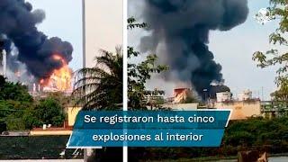 La conflagración se inició en un rac de líneas de la planta de Pemex; especialistas aseguran que la falla que originó el incendio no es catalogada como grave