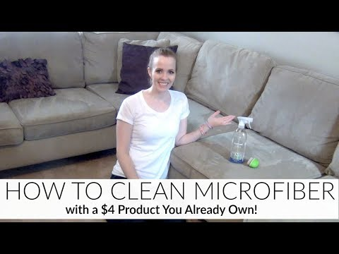 NO MORE COUCH STAINS! | HOW TO CLEAN MICROFIBER | EASY & CHEAP! | HOW I CLEAN MY MICROFIBER COUCH