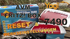 AVM FRITZ! Box 7490: Reset durchführen / Werkseinstellungen laden (auch für andere Modelle)