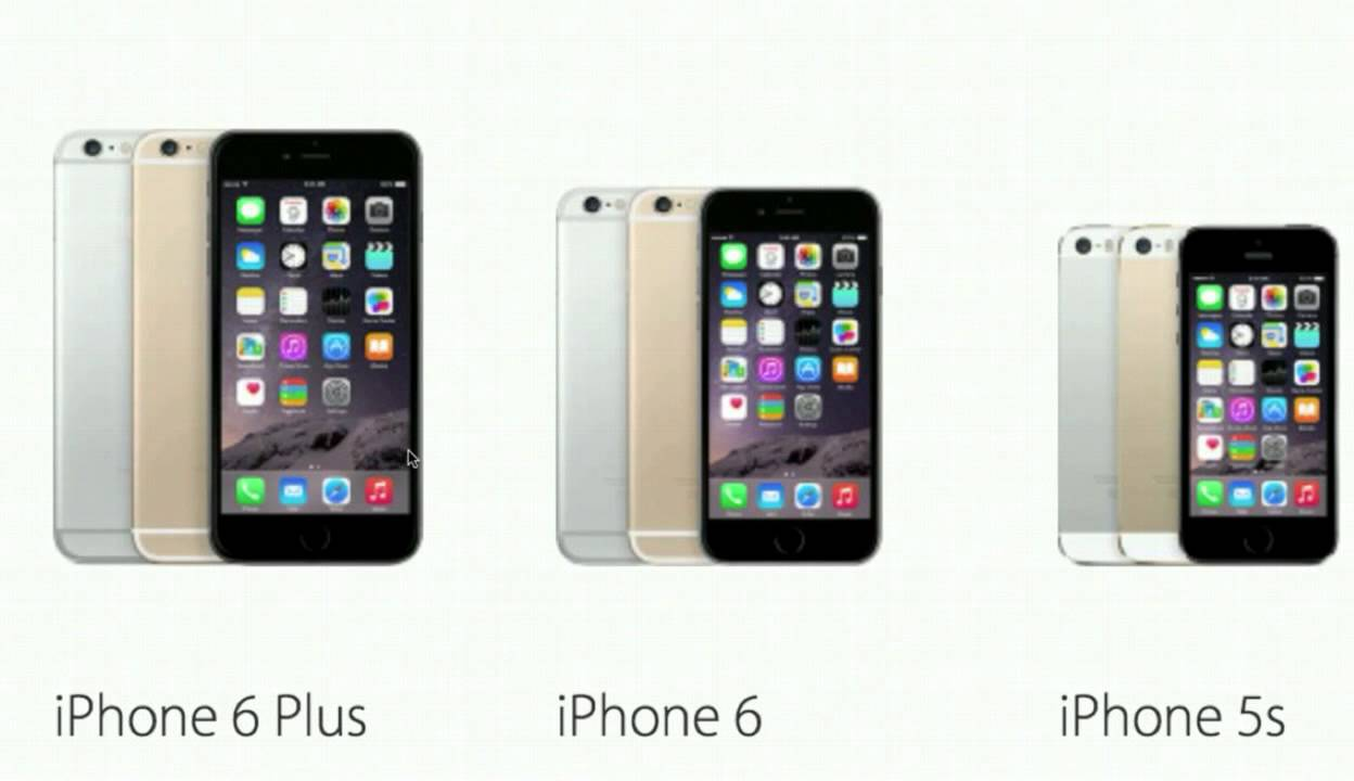 iphone 5s plus iphone 6 et iphone 6 plus comparaison avec iphone 5s 11228