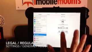 Tutorial 102 - Determine Your iPad Model   iPad Video Mastery   iMobileMounts.com