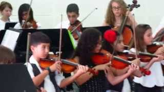Children Songs by the Dubai Youth Orchestra with Adrianne Ramirez on 2nd Violin