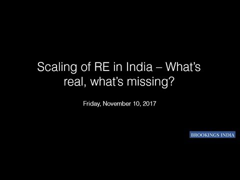 Scaling of renewable energy in India – what's real, what's missing?