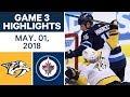 NHL Highlights | Predators vs. Jets, Game 3 - May. 01, 2018