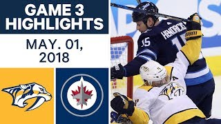 NHL Highlights | Predators vs. Jets, Game 3 - May. 01, 2018