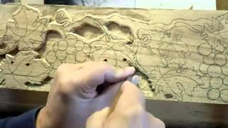 Carving A Grape Mantel Part 1 Of 2