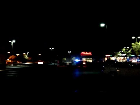Car Chase in Hemet, California  -  10pm January 15, 2015