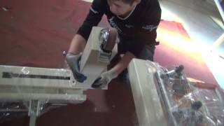 HJD-E5 Mechanical Screw-Type Stretching Machine installation (1)