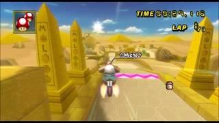 [Mario Kart Wii TAS] Dry Dry Ruins first lap: 33:856
