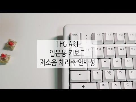 저소음 적축 키보드 언박싱 ! TFG ART Keyboard