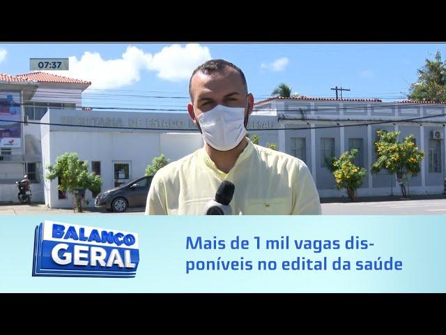 Concurso SESAU: Mais de 1 mil vagas disponíveis no edital da saúde de Alagoas