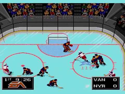 New York Rangers vs Vancouver Canucks NHL Hockey '94 Sega Genesis / Mega Drive