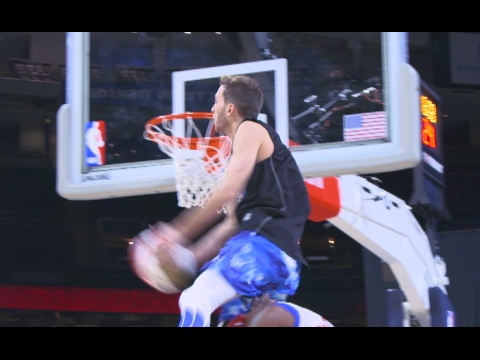CRAZY Dunks At Halftime Of Celebrity Game Ft. Jordan Kilganon And Crew!