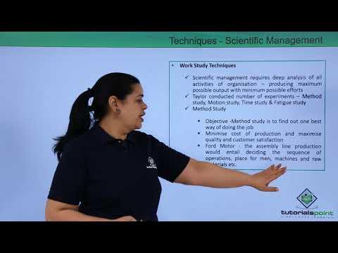 Techniques   Scientific Management