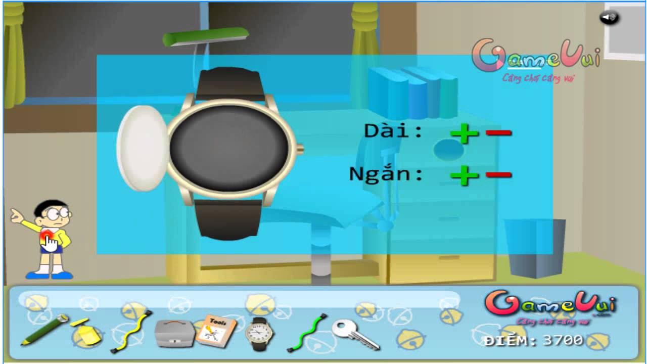 Hướng dẫn chơi game Giải mã bí ẩn Doremon – Gamevui