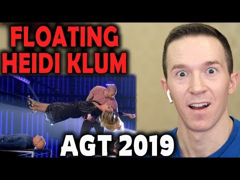 Magician REACTS to Darcy Oake levitate Heidi Klum on AGT The Champions 2019 Mp3