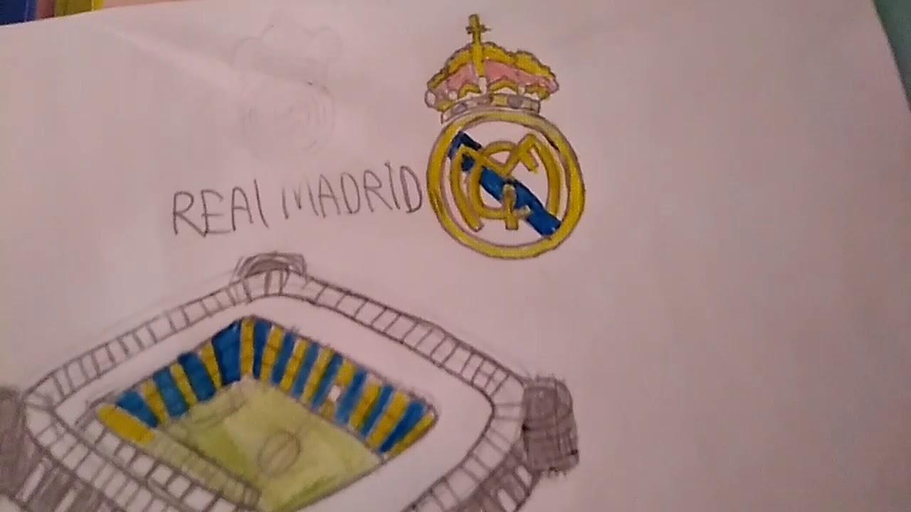 Dibujo estadio #2 Estadio Santiago Bernabéu Real Madrid 🇪🇸