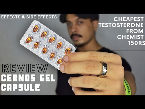 CERNOS Gel Capsule Review | Medicine For BODYBUILDING From A Chemist Shop, Best Testosterone Booster