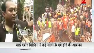 4 storey building collapses due to rains, 3 dead, many stranded under debris