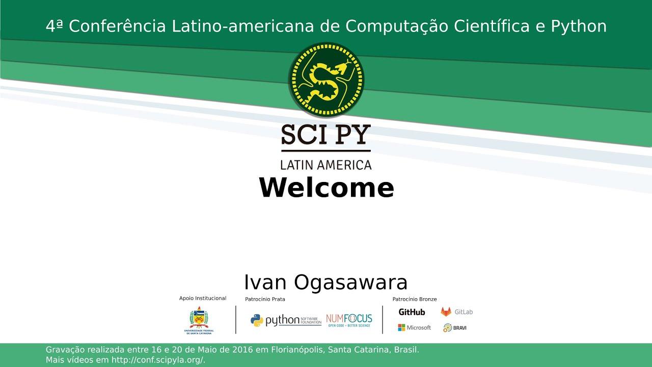 Image from SciPyLA 2016 - Abertura