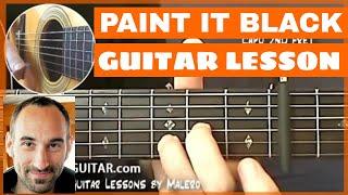 Paint It Black Guitar Lesson - part 1 of 4
