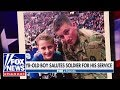 Boy gets surprise after thanking soldier for service